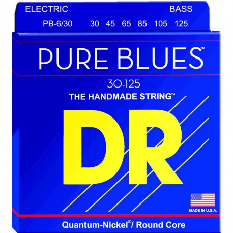 DR Strings Pure Blues PB6-30 Medium 6's