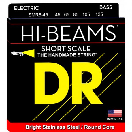 DR Strings Hi Beams SMR5-45 Medium 5's Short Scale