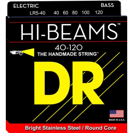 DR Strings Hi Beams LR5-40 Lite 5's