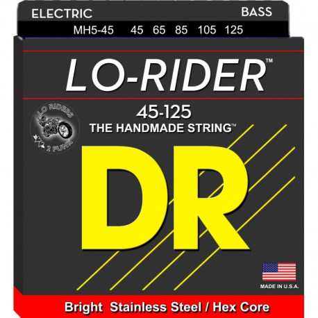 DR Strings Lo Rider MH5-45 Medium 5's