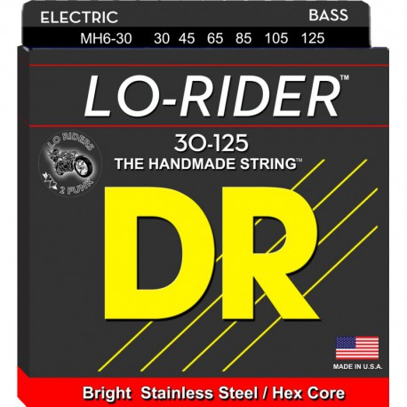 DR Strings Lo Rider MH6-30 Medium 6's