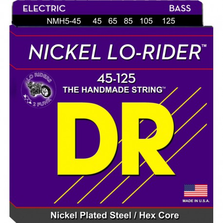 DR Strings Nickel Lo Rider NMH5-45 Medium 5's