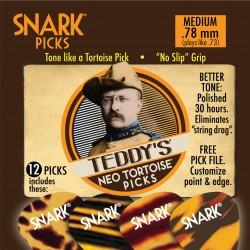 Snark Teddy's Neo Tortoise Picks 12-pack