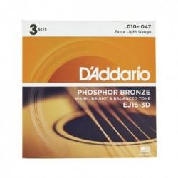 Daddario EJ15-3D Pack