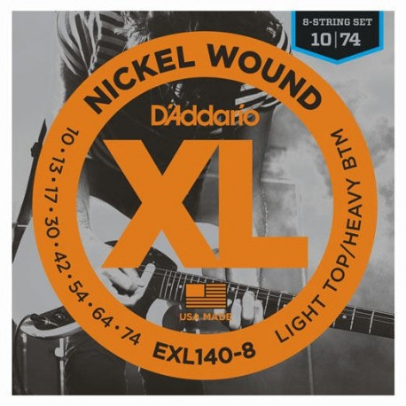 Daddario EXL140-8 8-String Set