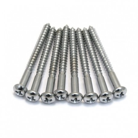 Allparts Chrome Bass Pickup Screws