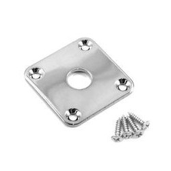 Allparts Chrome Metal Jackplate For Les Paul