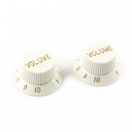 Allparts White Volume Knob