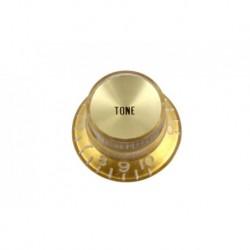 Allparts Gold Tone Reflector Knob