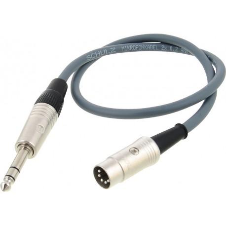 Lehle MIDI-Kabel SGoS DIN TRS 1m