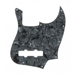 Allparts Dark Black Pearloid Pickguard for Jazz Bass
