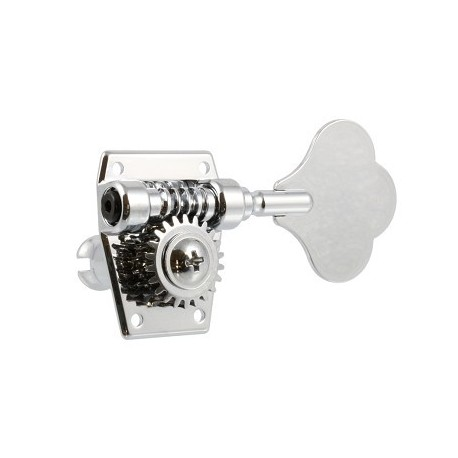 Allparts 2x2 Import Bass Tuners Chrome