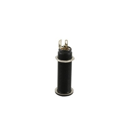 Allparts Switchcraft Black Stereo Long Threaded Jack