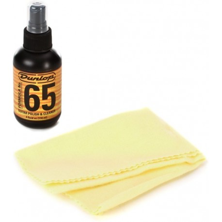 Dunlop 654 Guitar Polish & Cleaner with Cloth