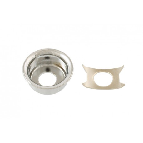 Allparts Chrome Input Cup Jackplate for Tele