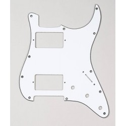 Allparts 2 Humbuckers White Pickguard for Strat