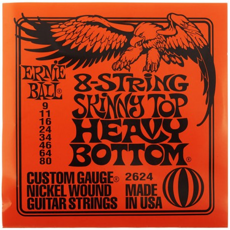 Ernie Ball 8-String Skinny Top Heavy Bottom