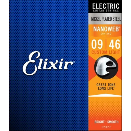Elixir Electric Nanoweb Custom Light