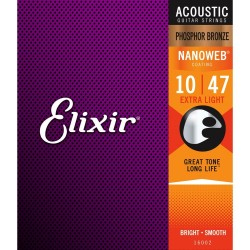 Elixir Acoustic Nanoweb Phosphor Bronze Extra Light