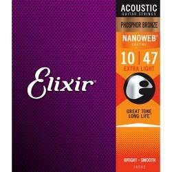 Elixir Acoustic Nanoweb Phosphor Bronze Extra Light