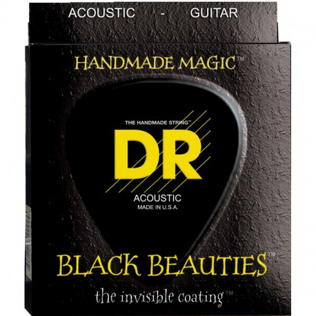DR Strings Black Beauties Acoustic BKA10 Lite