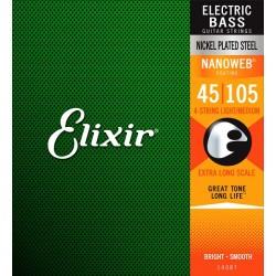 Elixir Bass Strings Medium Extra-Long Scale
