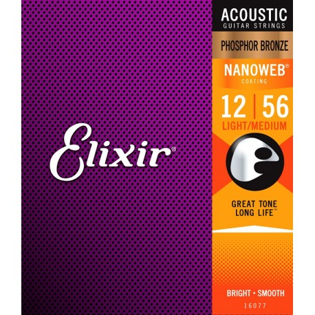 Elixir Acoustic Nanoweb Phosphor Bronze Medium-Light