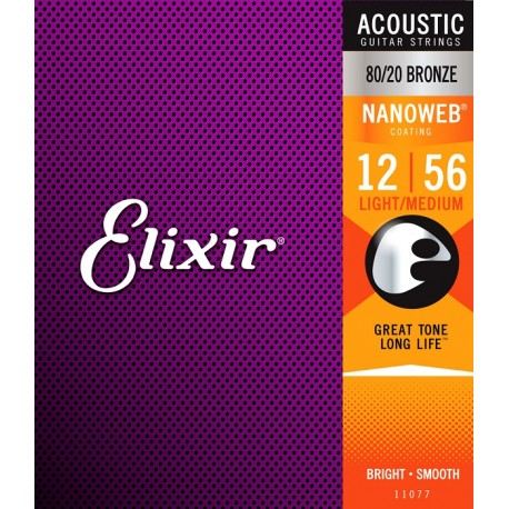 Elixir Acoustic Nanoweb Light-Medium