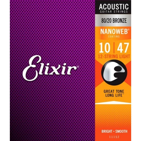 Elixir Acoustic Nanoweb 12-String Light
