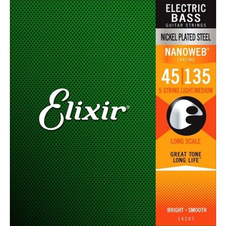 Elixir Bass 5-String Set Light-Medium