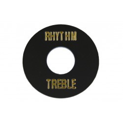 Allparts Black Plastic Rhythm/Treble Ring