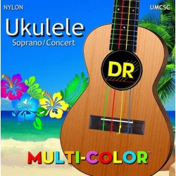 DR Strings Ukulele Multi-Color Soprano Concert