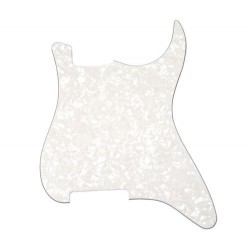 Allparts Pickguard Outline for Strat White Pearloid