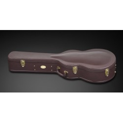 RockCase Superior Deluxe Jumbo Acoustic Guitar Case Brown
