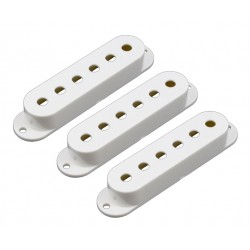 Allparts Plastic Pickup Cover Set for Strat White