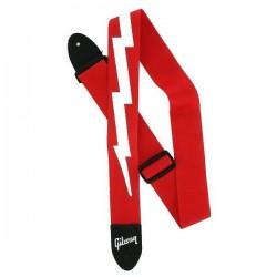 Gibson Lightning Bolt Red Strap