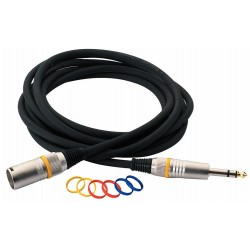 RockCable Microphone Cable XLR male to TRS Balanced 3m