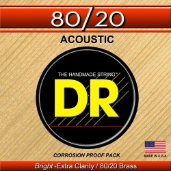 DR Strings HiBeam Acoustic 80/20 Bronze HA-11