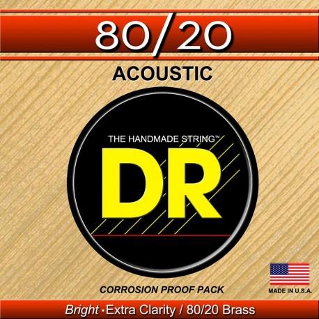 DR Strings HiBeam Acoustic 80/20 Bronze HA-11