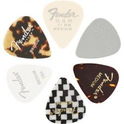 Fender 351 Material Medley 6-pack Medium