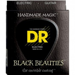 DR Strings Black Beauties BKE10 Medium