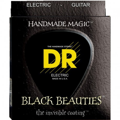 DR Strings Black Beauties BKE7-9 7 String Lite